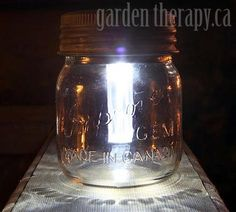 Mason Jar Solar Light Reflection,  Love this idea! Want to try it while solar lights are still on the shelves this fall.