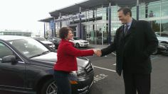 DJ Katie seals the deal for her Mercedes with Justin in Santa Rosa. She's a happy mom! #benz #santarosa