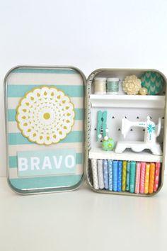 Tiny Tin Sewing Room  Bravo by TeaRoseCompany on Etsy