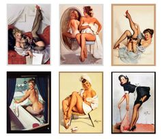 1:25 1:22 G scale model vintage pin up posters