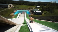 A Huge Slip And Slide LAUNCH RAMP!