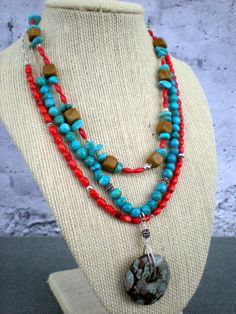 Campfire songs trio of beaded necklaces by greygirldesigns on Etsy