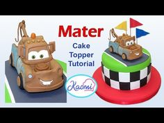 How to make Mater (Cake Topper) / Cómo hacer a Mate para tortas - YouTube