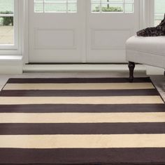 Somerset Home Autumn Stripes Area Rug, Brown and Tan