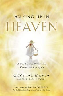 Waking Up in Heaven - A True Story of Brokenness, Heaven, and Life Again by Alex Tresniowski and Crystal McVea. Read it on #Kobo: http://www.kobobooks.com/ebook/Waking-Up-in-Heaven/book-H2cWRcswDEmi9ozlSObV_w/page1.html?s=qjMzBEnvxkaO20X0KEw9dQ=1