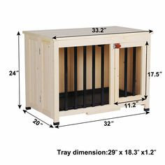 Diy Furniture Dog Crate, Wood Dog Crate, Diy Dog Crate, Crate End Tables, A Table, Dog Room Decor, Small Shed Plans, Wooden Dog Kennels, Dog Kennel Designs