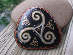 Silver Gold and Copper Hand-painted Celtic by MarciaStewartArt