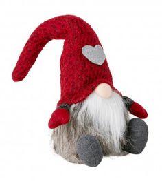 Wichtel Türstopper, rot, 43 cm - Mit diesem weihnachtlichen Türstopper peppen Sie Ihre Winterdeko auf.Material: Polyresin, Filz