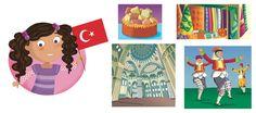I'm Ready to Explore My World - Barbara Bongini #turkey #world #country #flag #culture #food #childrensbook #illustration #kidlitart #barbarabongini