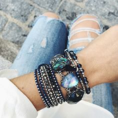 Before you wrap up in something cozy for Fall, add some candi with our customer favorite beaded bracelets — available on my boutique all season long! marymostyle.com