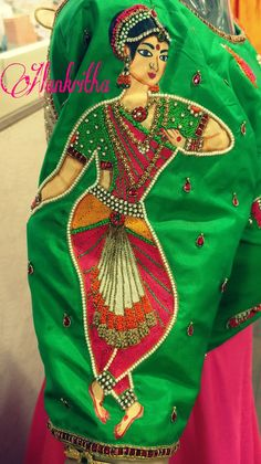 Embroidery on d sleeve...