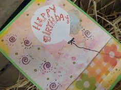 Video-Tutorial: Geburtstagskarte selber machen mit Aquarellfarbe / cardmaking card # 23/2014
