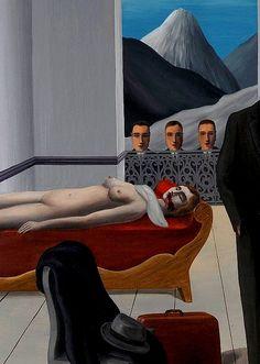 The Menaced Assassin by Rene Magritte René Magritte : More At FOSTERGINGER @ Pinterest