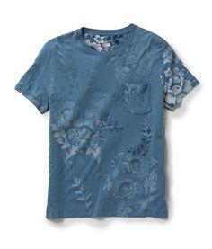 J. Press York St. - Floral Pocket Tee - Indigo Florals -  85.00 Camisetas de69a258da