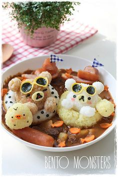 Bento, Monsters: Swimming Rilakkuma & Pancake