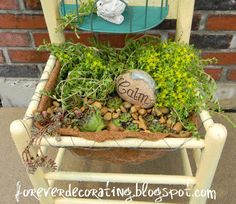 Forever Decorating!: Succulent Chair