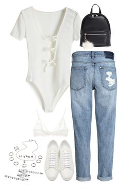 """Sem título #5330"" by fashionnfacts ❤ liked on Polyvore featuring H&M, Yves Saint Laurent, BP., Anine Bing and Chanel"