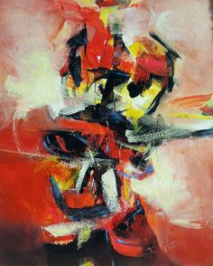 LA TRAME DE L'ILLUSION ( mixed media on canvas - 100 x 81 )