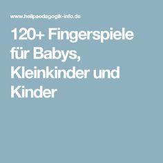 120+ Fingerspiele für Babys, Kleinkinder und Kinder