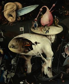 DETAIL - Garden of Earthly Delights by Hieronymus Bosch