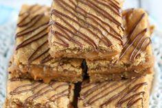 Caramel Stuffed Peanut Butter Blondies