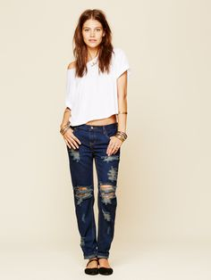 Free People Awesome Destroyed Baggies, AU$173.39
