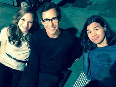 Danielle Panabaker, Carlos Valdes and Tom Cavanagh #TheFlash