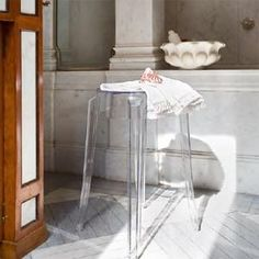 Charles Ghost Stool Set Of 2 By Philippe Starck For Kartell Kartell Philippe