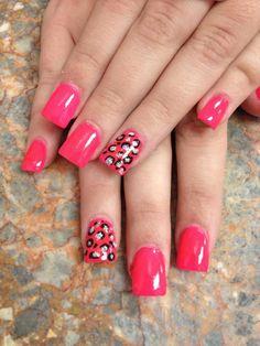 Bling Cheetah Nails