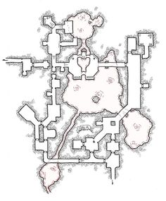 [Friday Map] Gedak's Temple Game Level Design, Game Design, Dungeon Maps, Fantasy Map, Cartography, Map Art, Me On A Map, Dungeons And Dragons, Temple