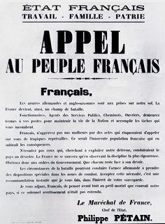 1944 06 10 Appel Au Peuple Français Du Maréchal Pétain Tracts Et Affiches 1939-1945