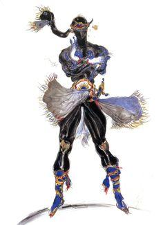 Final Fantasy VI - Shadow Concept Art - Yoshitaka Amano