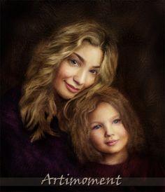 Custom Family Portrait - For more, please visit www.artimoment.com