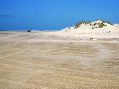 Nuvem de areia sobre a maré no Rio Mundaú,