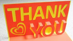 We are going to make this to say thank you to the grandparents for finding us the perfect car. Thank you pop up card - learn how to make a thank you popup card from tem...