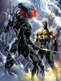 Aquaman vs blackmanta by ivan reis