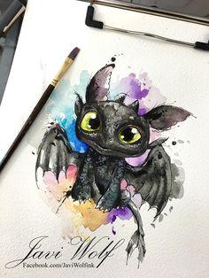 Watercolor stars tattoo Tattooed by Javi Wolf Art Drawings Sketches, Cartoon Drawings, Animal Drawings, Disney Kunst, Disney Art, Cute Disney Drawings, Cute Drawings, Disney Tattoos, Toothless Tattoo