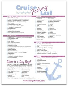 There are things you need to know about packing for a cruise. Use this printable list!