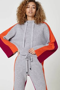 Ash, ember and copper red Alfaro hoodie. Drawstring detail at the neck. A-line silhouette and wide sleeves Model wears size S/M Composition: cashmere, wool Care: Hand wash cold Size Recommendations: XS: UK 6 - UK 8 S/M: UK 10 - UK 12 M/L: UK 12 - UK 14 Zoe Jordan, Cashmere Hoodie, Cold Shoulder Dress, Stylists, Silhouette, Wool, Hoodies, Sleeves, How To Wear