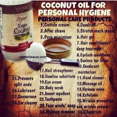 Coconut oil uses so many to mention. It's a life saviour for your health and beauty. Polenisian women who use and eat coconut oil look 10 years younger than western women. Ditch the expensive creams this is by far the best! Benefits Of Coconut Oil, Coconut Oil For Skin, Coconut Cream, Coconut Oil On Eyelashes, Uses For Coconut Oil, Eyelash Conditioner, Cuisine Diverse, Stretch Mark Cream, Personal Hygiene