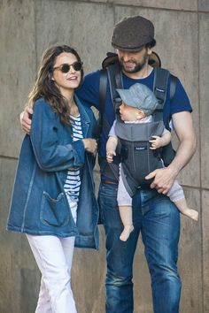 Keri Matthew and baby Sam taking a stroll in Brooklyn