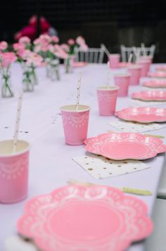 A peak into the pink-tastic celebrations of Scarlett's birthday Screen Shot, 3rd Birthday, Ballerina, Celebrations, Table Settings, Party Ideas, Candles, Table Decorations, Mini
