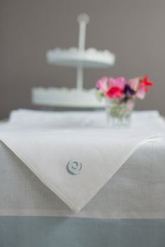 our new Irish collection from AgnesHdesign.com in beautiful embroidered blue and white Irish linen