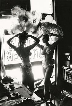 vintagegal:  Latin Quarter Showgirls in NYC photographed by Peter Basch, 1950s