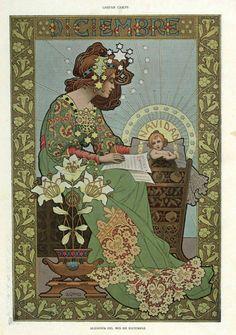 zombienormal: Allegory of December, Gaspar Camps, 1901. Via.