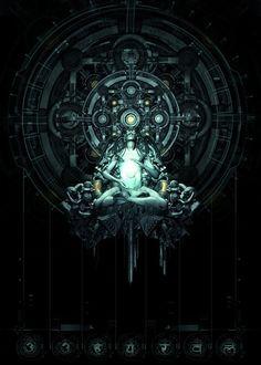 Cyberpunk divinity.