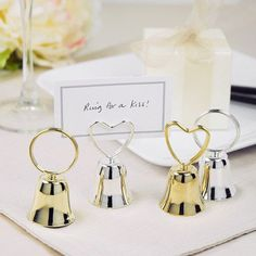 Wedding Bell Placecard Holders by Beau-coup, better than whistles??