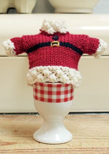 Father Christmas egg cosy #free_pattern