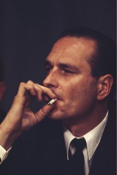 Jacques Chirac - yes, the former french president looked quite handsome sometimes Peter Gabriel, Men Smoking Cigarettes, Top Photos, Pictures, French Icons, Men's Shirts And Tops, French President, Man Smoking, Attractive Girls