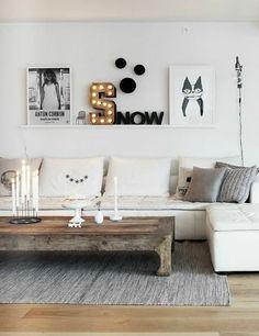 wohnzimmer wandregal holz weiß sofa couchtisch